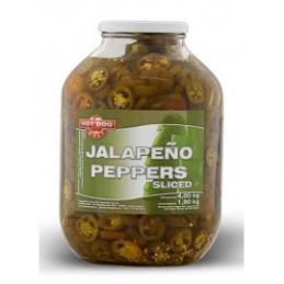 Piments Jalapeno tranchés 4kg  53212 Garniture pour Hot-Dog