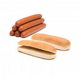 Pack Hot-Dog Jumbo 96 saucisses 96 petits pains  50124 Packs Hot-Dog