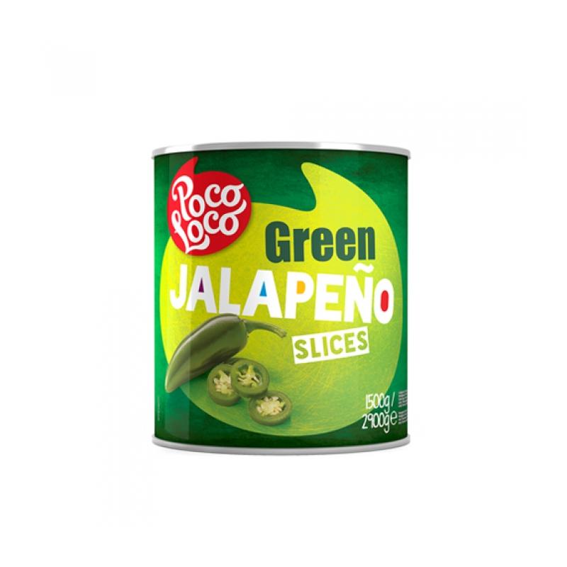 Piments Jalapeño tranchés 2,9kg  53215 Garniture pour Hot-Dog