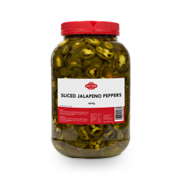 Piments Jalapenos tranchés 4kg  53212 Garniture pour Hot-Dog