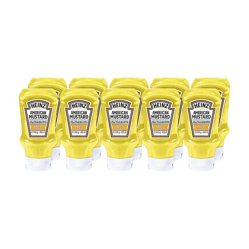 Moutarde américaine HEINZ 10 x 400 ml  76009560 Sauces Hot-Dog