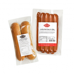 Pack Hot-Dog Jumbo 96 saucisses 96 petits pains  53231 Packs Hot-Dog