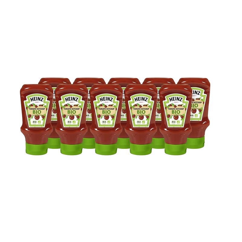 Ketchup BIO aux tomates HEINZ (10 x 400 ml)  7011220 Sauces Hot-Dog
