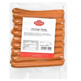 Saucisses hot-dog classique 144 x 45 g  SHOPHD45 Saucisses Hot Dog