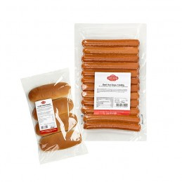 Pack Hot Dog saucisses et pains 144 pièces (pur boeuf)  50122 Packs Hot-Dog