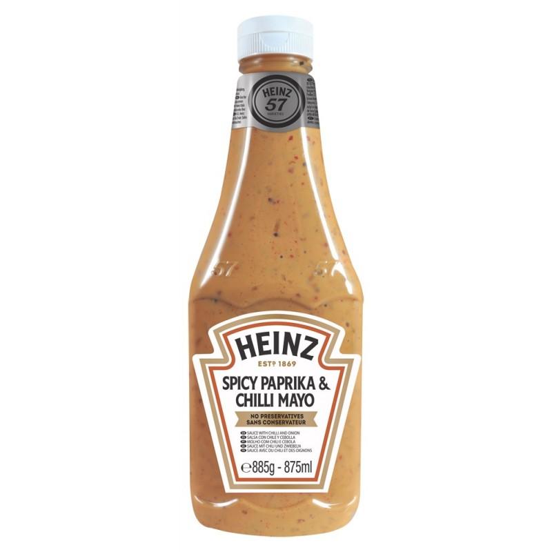 Mayonnaise Paprika & Chili Heinz 875 ml  53551 Sauces Hot-Dog