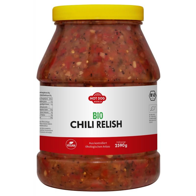 Relish Chili Bio Vegan 2,65 Kg  53611 Garniture pour Hot-Dog
