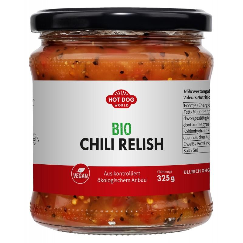 Relish Chili Bio Vegan 325 g  53621 Garniture pour Hot-Dog