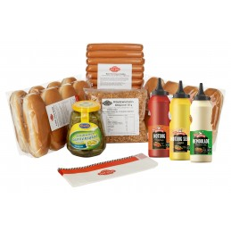 """Pack Hot Dogs """"Danois"""" pur Boeuf 12 x 60g  50240 Packs Hot-Dog"""