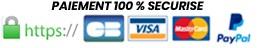 Paiement par carte bancaire 100% sécurisé